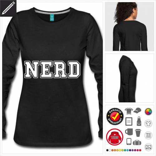 Nerd T-Shirt online gestalten