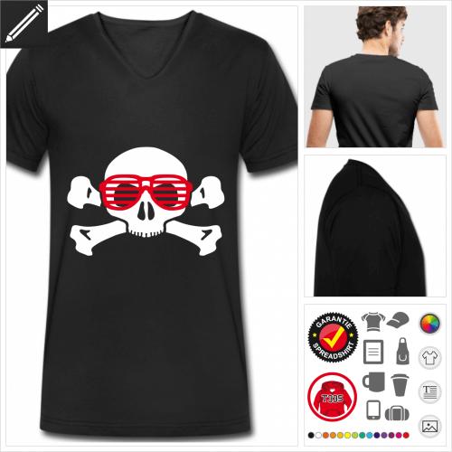 schwarzes Nerd T-Shirt selbst gestalten. Online Druckerei