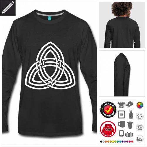 Männer Wikinger T-Shirt online gestalten