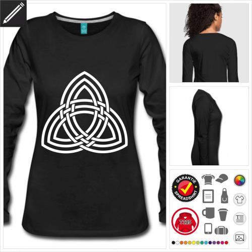 Keltisches Symbol Langarmshirt selbst gestalten