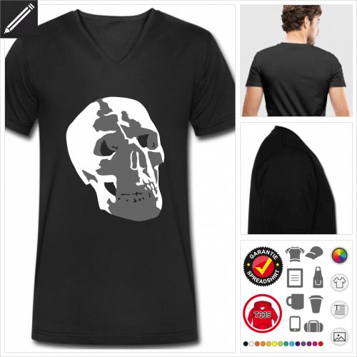 Totenköpfe T-Shirt online gestalten
