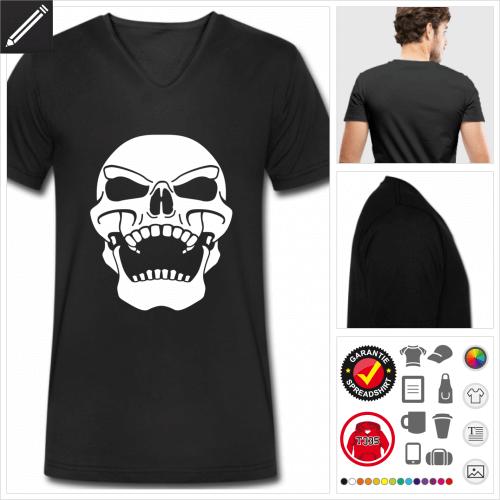 Piratenflagge T-Shirt für Männer zu gestalten