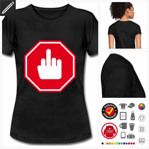 basic Verkehrsschild T-Shirt zu gestalten