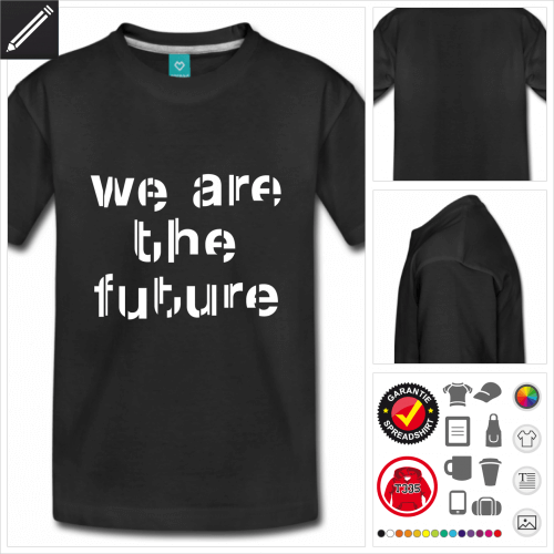 schwarzes Future T-Shirt online zu gestalten