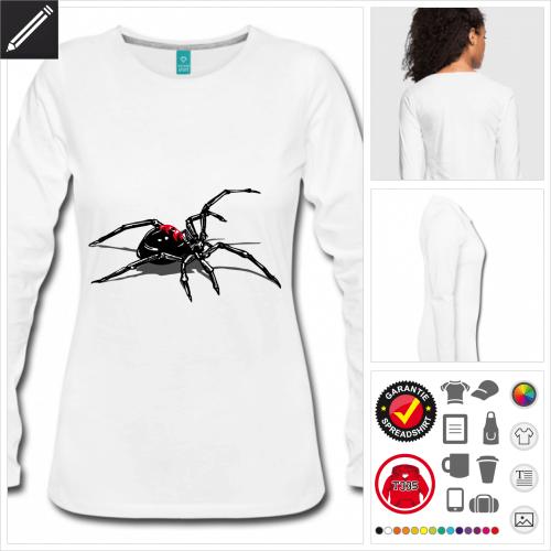 Spinnen Langarmshirt online Druckerei, höhe Qualität