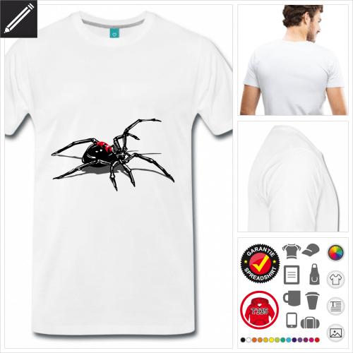 weisses Black Widow T-Shirt zu gestalten