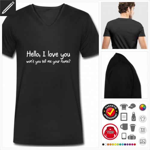 Sprüche T-Shirt online zu gestalten