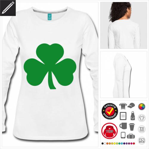 Frauen Shamrock T-Shirt personalisieren