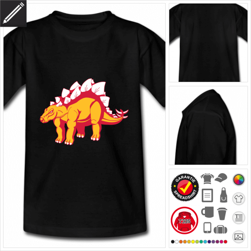 Stegosaurus Kurzarmshirt selbst gestalten. Online Druckerei