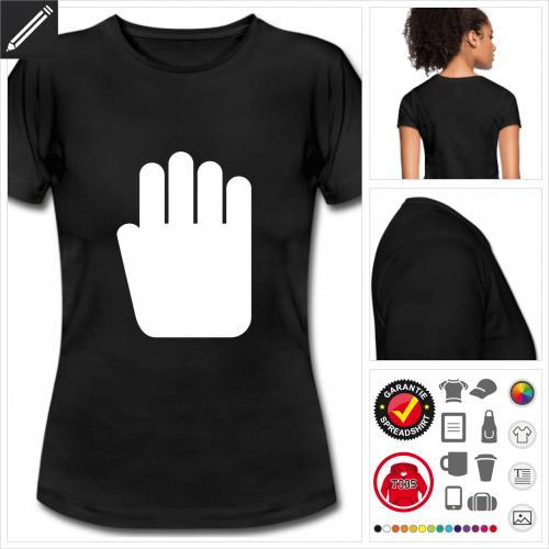 schwarzes Stop T-Shirt zu gestalten