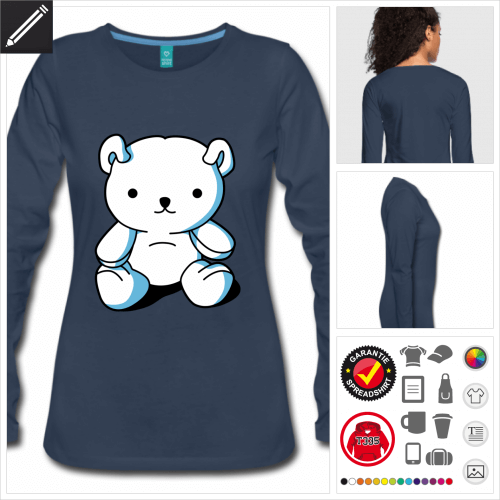 Teddybär Kawaii T-Shirt selbst gestalten. Druck ab 1 Stuck