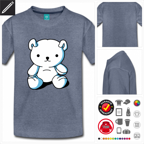 basic Teddybär T-Shirt personalisieren