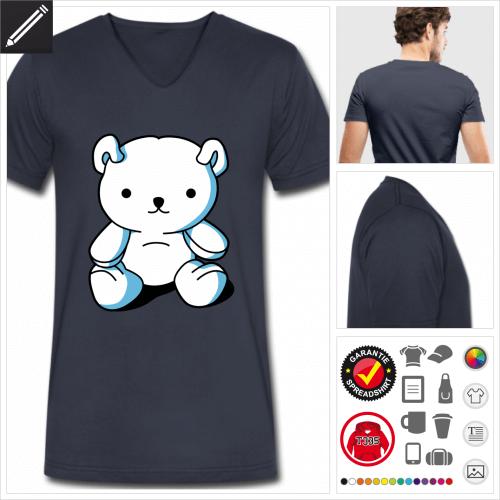 blaues Teddybär T-Shirt selbst gestalten