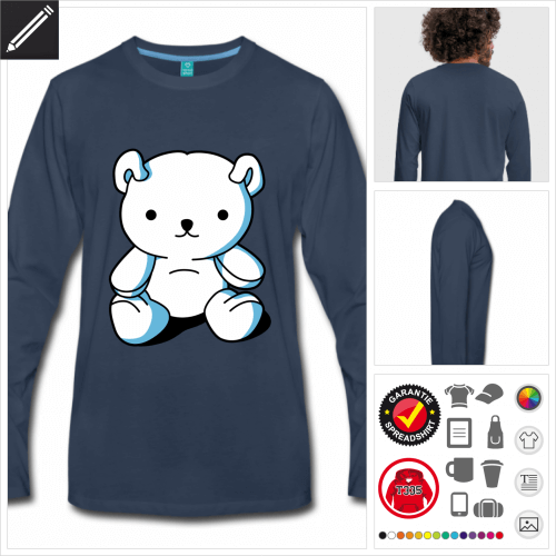 Männer Süßer Teddybär T-Shirt online zu gestalten