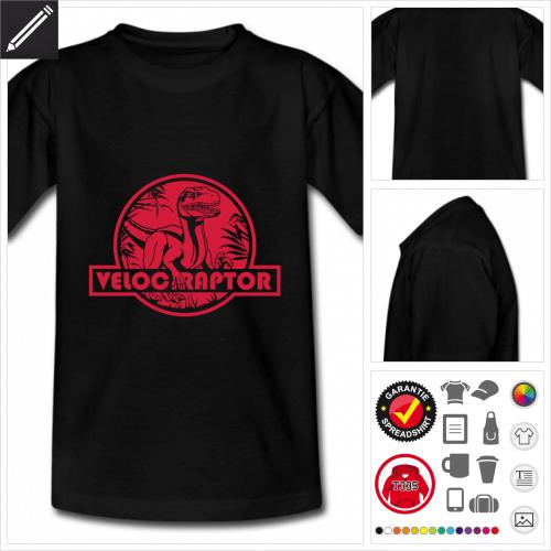 basic Velociraptor T-Shirt selbst gestalten. Druck ab 1 Stuck