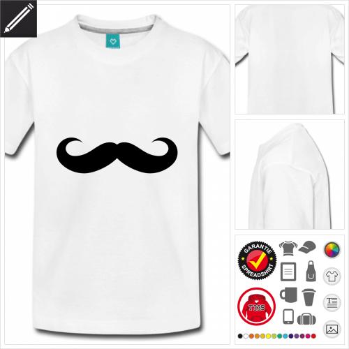 Teenager Runder Schnurrbart T-Shirt zu gestalten