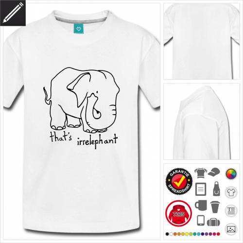 schwarzes Irrelephant T-Shirt personalisieren