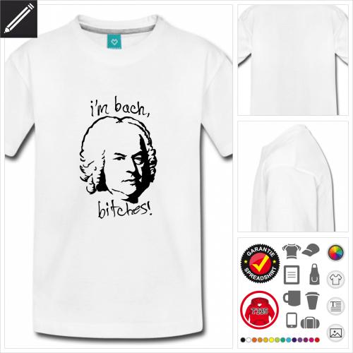 Teenager I'm Bach T-Shirt online zu gestalten