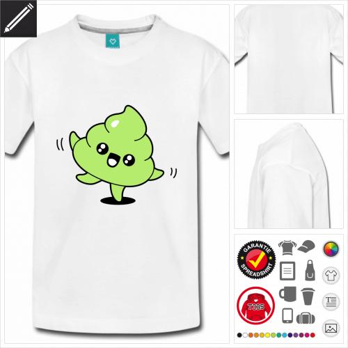 Teenager Kot emoji T-Shirt selbst gestalten. Druck ab 1 Stuck