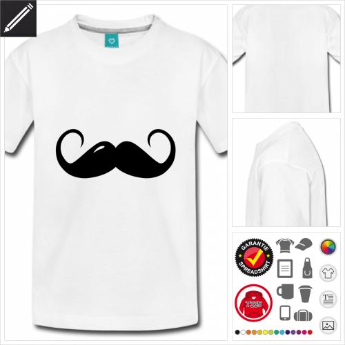basic moustache T-Shirt online gestalten