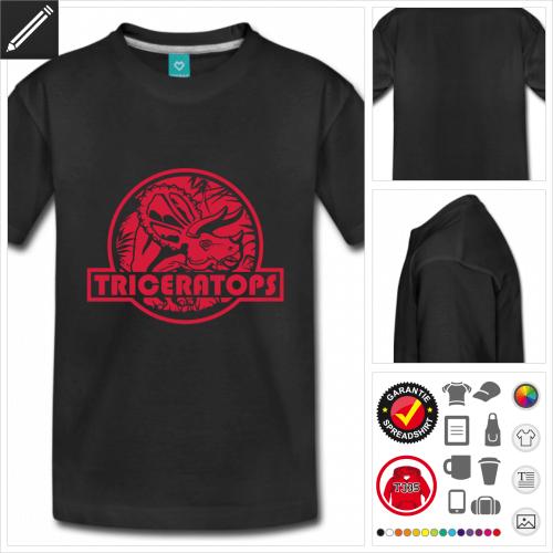 basic Triceratops Logo T-Shirt personalisieren