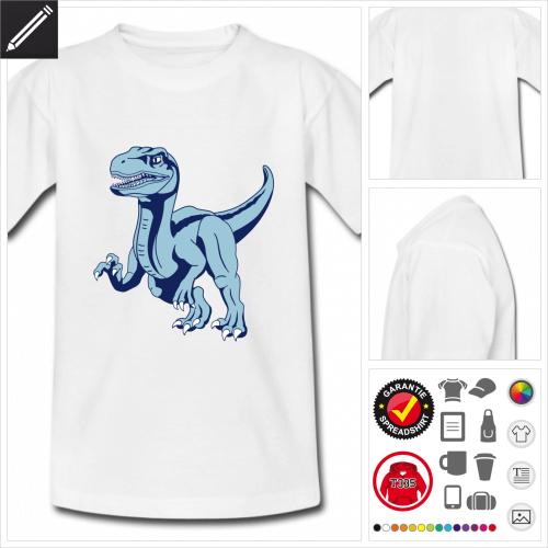 Dinosaurier Velociraptor T-Shirt online gestalten