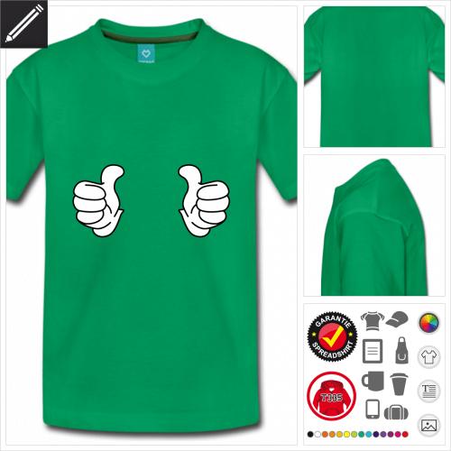 basic Daumen T-Shirt online Druckerei, höhe Qualität