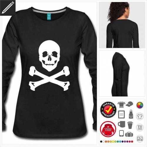 Piraten T-Shirt online Druckerei, höhe Qualität