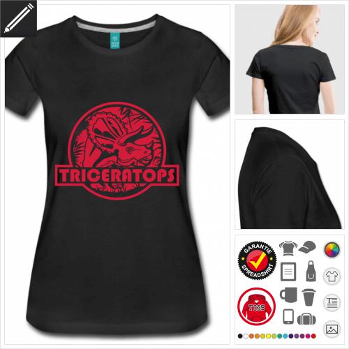 basic Triceratops T-Shirt selbst gestalten