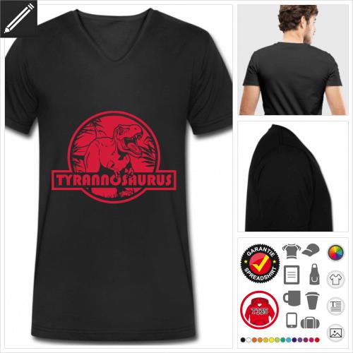 Tyrannosaurus T-Shirt für Männer selbst gestalten. Online Druckerei