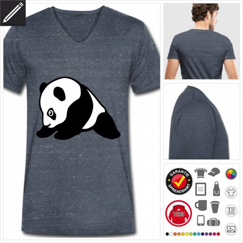 blaues Panda T-Shirt selbst gestalten