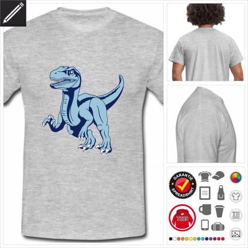 Raptor Dinosaurier T-Shirt selbst gestalten. Online Druckerei