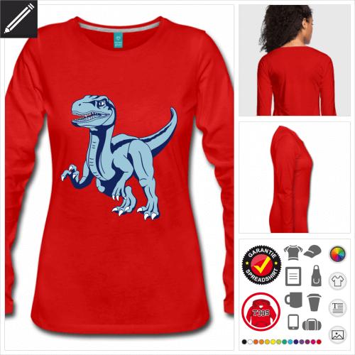 Velociraptor T-Shirt selbst gestalten. Druck ab 1 Stuck