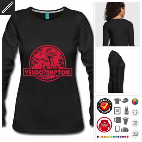 Dinosaurier T-Shirt gestalten, Druck ab 1 Stuck