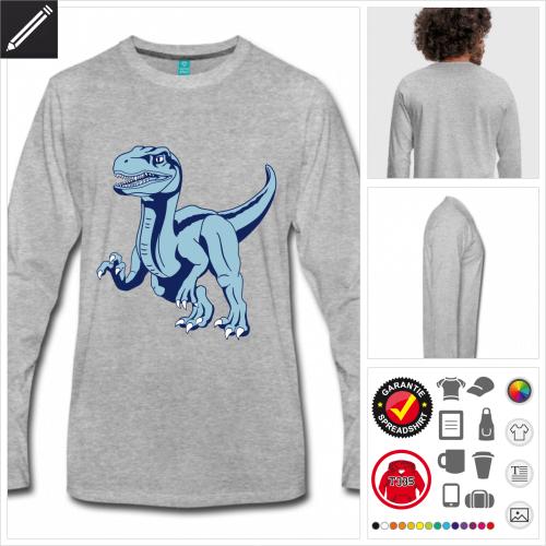 Velociraptor Langarmshirt zu gestalten