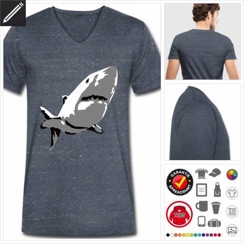 Ozean T-Shirt für Männer online Druckerei, höhe Qualität