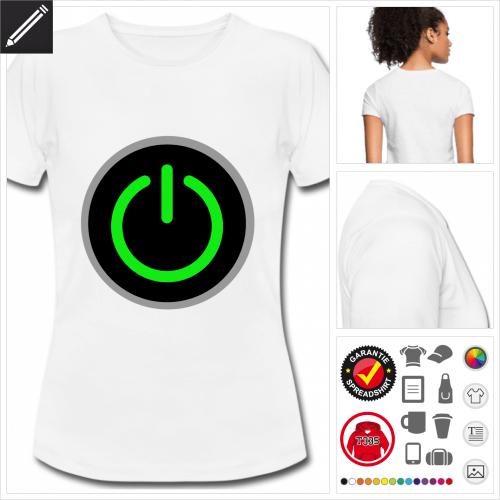 weisses Gaming T-Shirt selbst gestalten