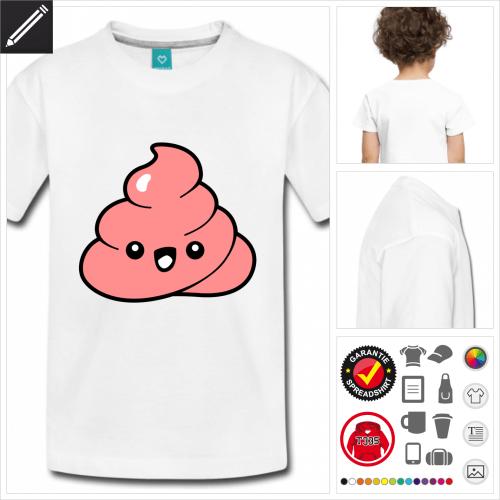 Kinder Kot T-Shirt personalisieren