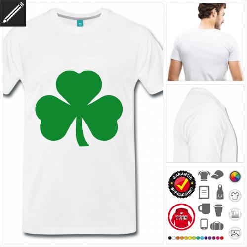 weisses St Patricks Day T-Shirt online zu gestalten