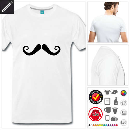 weisses Hipster T-Shirt personalisieren