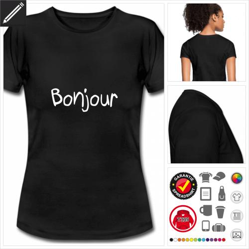 basic Bonjour T-Shirt online zu gestalten