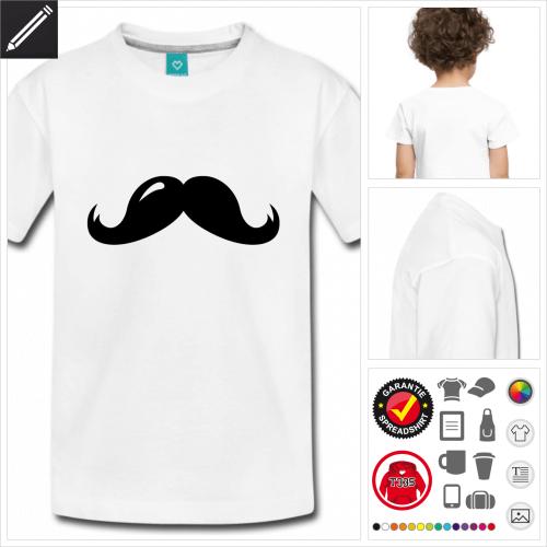 Kinder Schnurrbärte T-Shirt zu gestalten