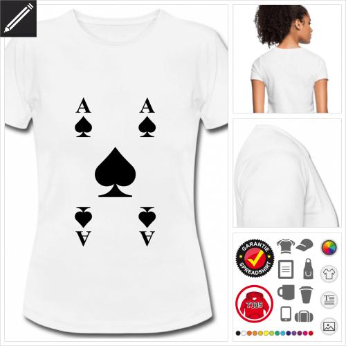 weisses basic Pik T-Shirt personalisieren
