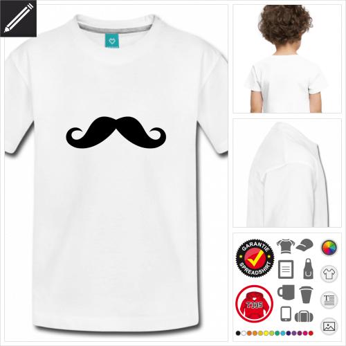 Kinder Schnurrbärte T-Shirt online zu gestalten