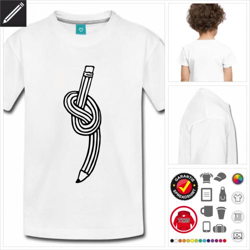 weisses Bleistift T-Shirt online Druckerei, höhe Qualität