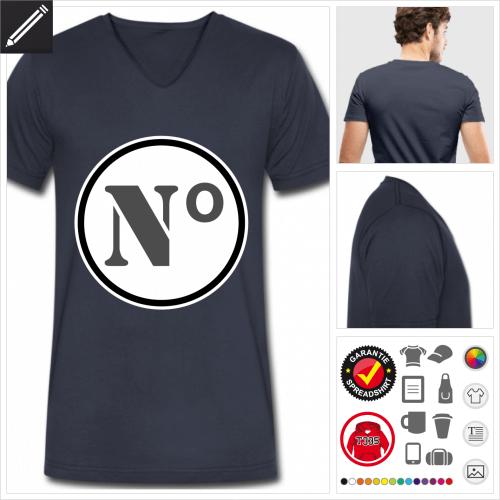 Männer Nummer T-Shirt gestalten, Druck ab 1 Stuck