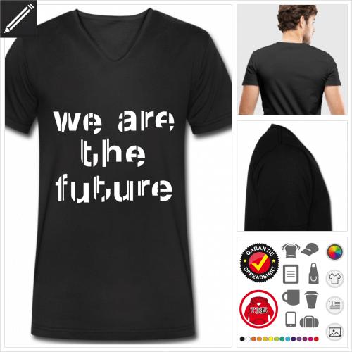 schwarzes Zitat T-Shirt online gestalten