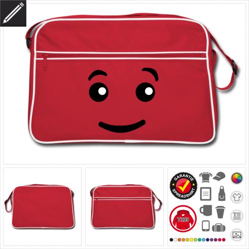 Retro Emoji Tasche selbst gestalten. Druck ab 1 Stuck