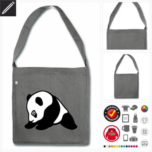 Panda Schulltertasche online Druckerei, höhe Qualität