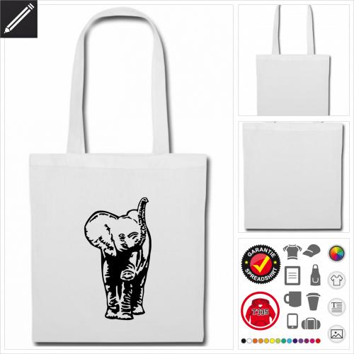 Elefantenbaby Shopper gestalten, Druck ab 1 Stuck